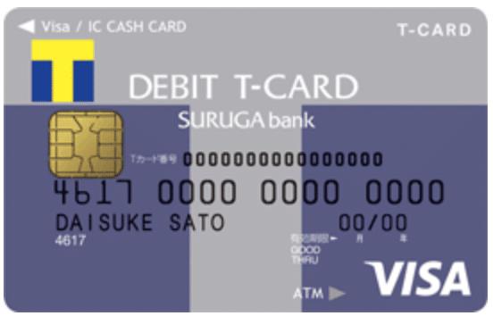 スルガ銀行Visaデビット Tポイント